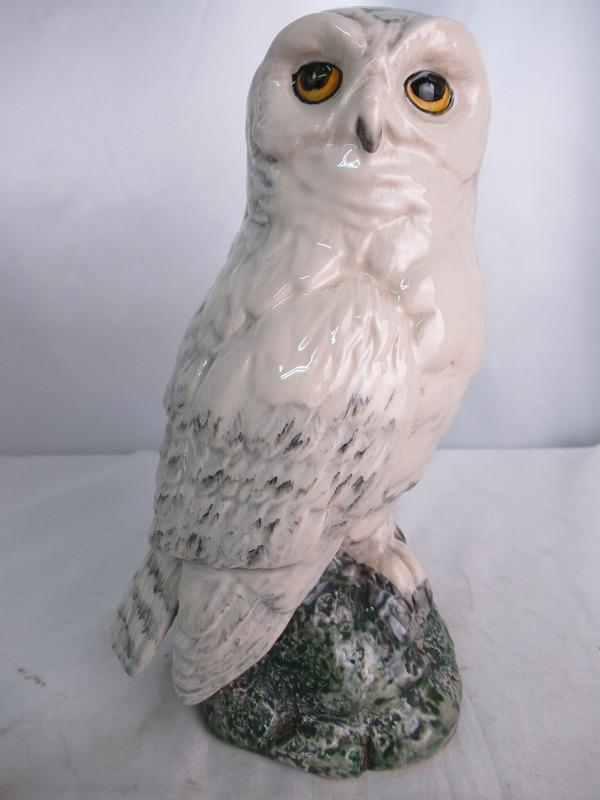 WHITE&MACKAY SNOWY OWL ROYAL DOULTON ホワイト アンド マッカイ シロフクロウ 白梟 ロイヤル ドルトン社製 陶器 重量 413g 200ml 40度 スコッチ ウィスキー 【中古】(未開封品)
