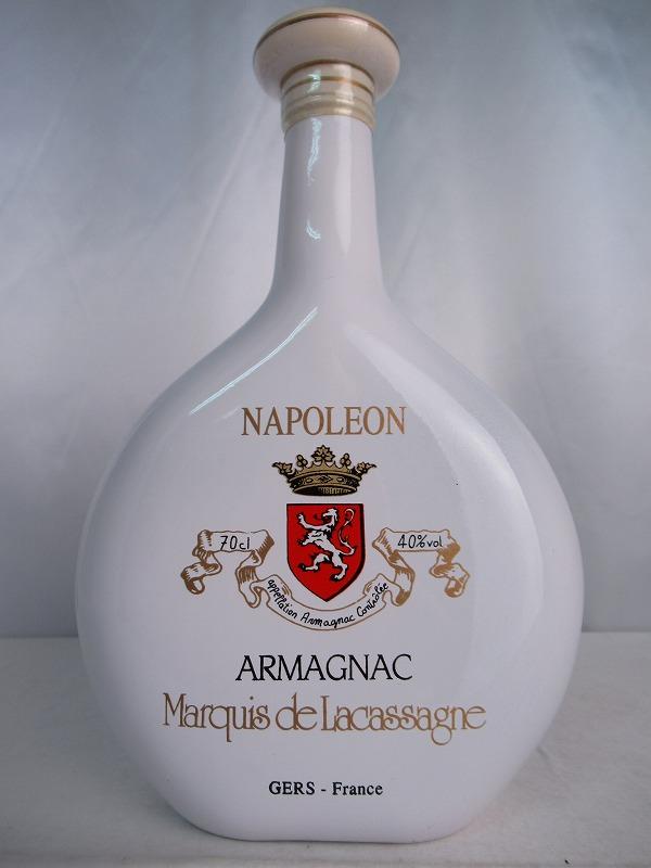 Marquis de Lacassagne NAPOLEON ARMAGNAC マルキ ド ラサカーニュ ナポレオン アルマニャック 700ml 40度 重量1323g ブランデー 【中古】(未開封品)n1206