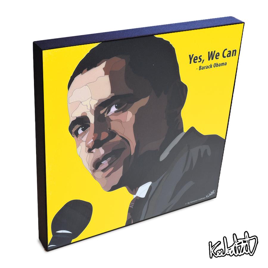 アートパネル Barack Obama バラク・オバマ インテリア 第44代アメリカ合衆国大統領 世界史・偉人 ウォールアート 偉人 レジェンド アートグッズ おしゃれ イラスト 絵 絵画 ポップアート アートフレーム 雑貨