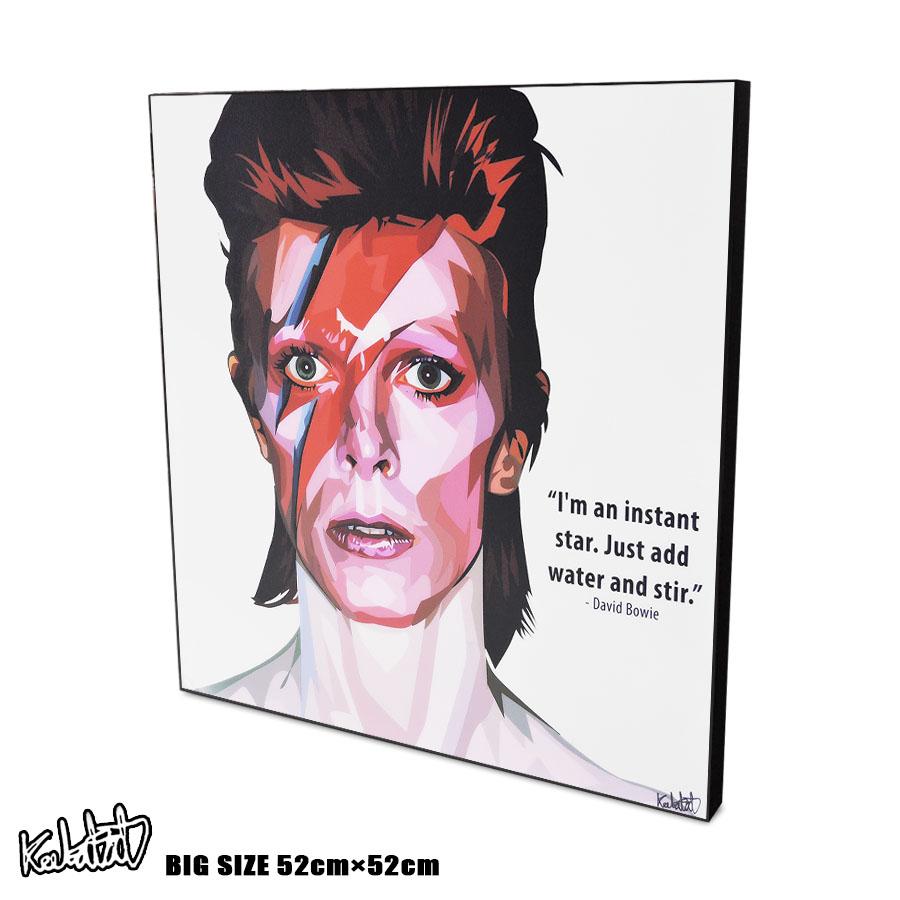 アートパネル 特大52cmサイズ☆ David Bowie デヴィッド・ボウイ アラジン・セイン 1973 インテリア ウォールアート パネル 音楽 ミュージック レジェンド スター グッズ ポップアート アートフレーム 雑貨