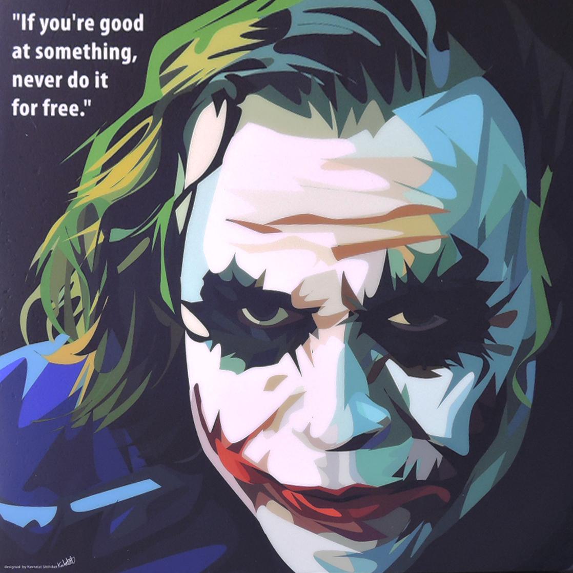 【特大52cmサイズ☆】Joker ジョーカー2 ★大型サイズ★インテリアアートパネル (大変人気の高いグラフィックアートフレーム☆です)お洒落にお部屋を彩るウォールアートパネル【映画・アメコミ・ポスター・キャラクター・スター グッズ・雑貨】