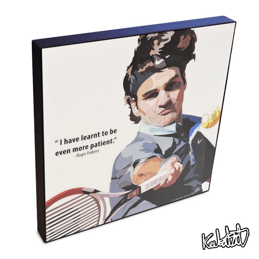 楽天市場 11 4 23 00 11 11 10 59 ポイント10倍 Roger Federer ロジャー フェデラー Keetatat Sitthiket ポップアートパネル ポップアートフレーム 絵 イラスト グラフィック 壁掛け おしゃれ インテリア テニスプレイヤー スマイルワゴン楽天市場店