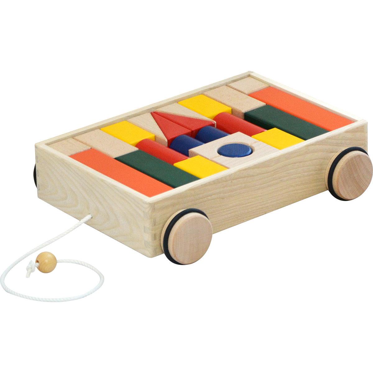 1年保証 コイデ KOIDE 日本製 おもちゃ 玩具 引車積木 K35 積み木 知育 引き車 室内 1歳 2歳 男の子 女の子 子供 幼児 ベビー 知育玩具 出産祝い 誕生日 ウッド 天然木 国産 ■[送料無料]
