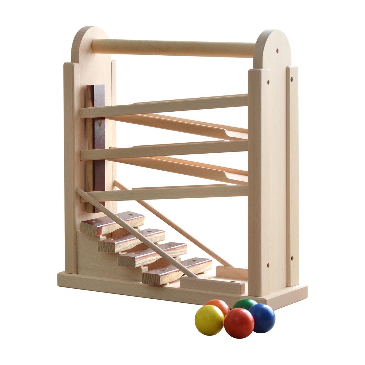 1年保証 コイデ KOIDE 日本製 おもちゃ 玩具 コロコロシロホン M63 木琴 ボール 楽器 スロープ 知育 室内 3歳 男の子 女の子 子供 幼児 ベビー 知育玩具 出産祝い 誕生日 ウッド 天然木 国産 ■[送料無料]