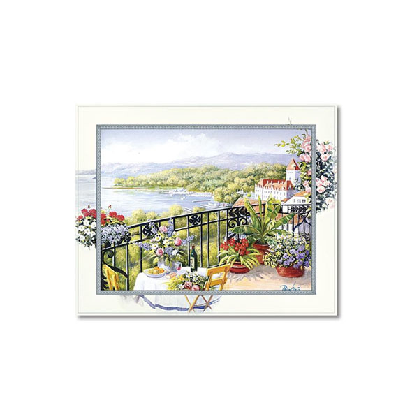 【代引料無料】ユーパワー Masterpiece Art ビッグアート ピーター モッツ 「ガーデン テラス ビュー」 Lサイズ BA-10055
