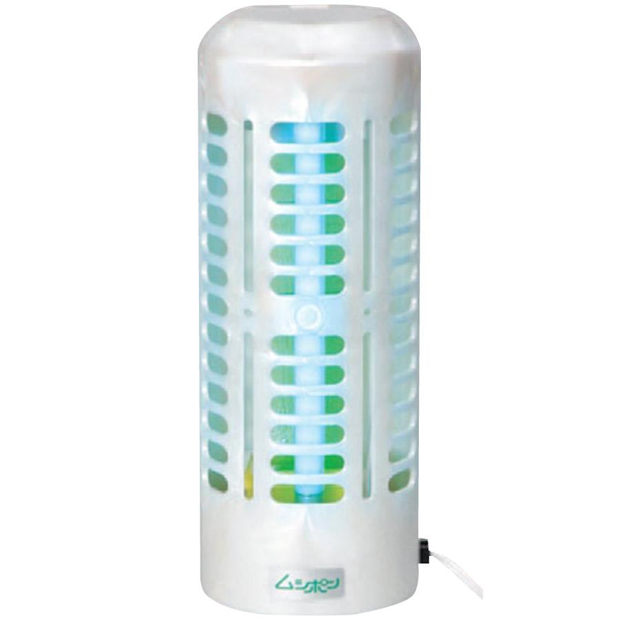 【送料無料】【代引き料無料】捕虫器 ムシポン 工事不要据置き型(壁付け兼用) 紫外線誘虫・粘着捕獲式 MP-600