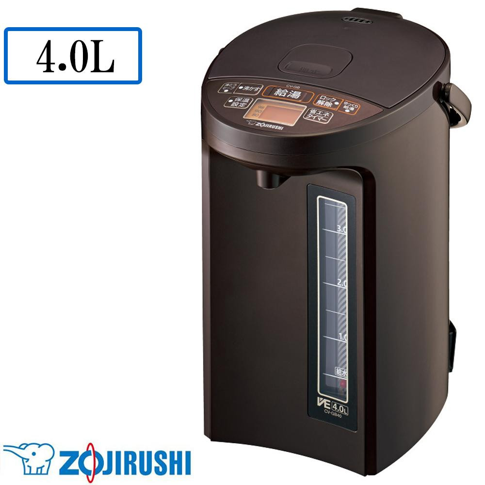 【送料無料】【代引き料無料】象印 マイコン沸とう VE電気まほうびん 優湯生(ゆうとうせい) TA(ブラウン) 4.0L CV-GB40-TA
