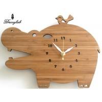 【送料無料】【代引き料無料】Made in America DECOYLAB(デコイラボ) 掛け時計 HIPPO かば