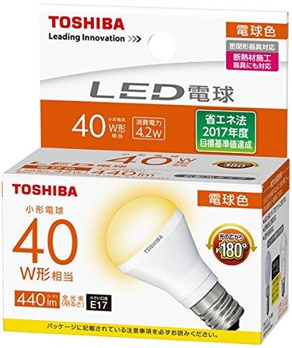 【10台セット】東芝ライテック LED電球 ミニクリプトン形 電球色 40W形 広配光 LDA4L-G-E17/S40WST 【LDA4LGE17S40WST】(LDA4L-G-E17/S/40W同等品)