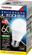 60個セット 送料無料 LED電球 TOSHIBA 東芝ライテック E26口金 一般電球形 訳あり 60Wの後継機種 昼白色 LDA7N-G 60W-2 白熱電球60W形相当 ラッピング無料 全方向タイプ LDA7NG60W2