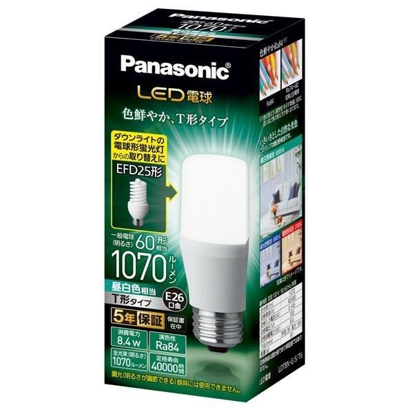 パナソニック LED電球 口金直径26mm 電球60W形相当 昼白色相当(8.4W) 一般電球・T形タイプ 密閉器具対応 LDT8N-G/S/T6【LDT8NGST6】