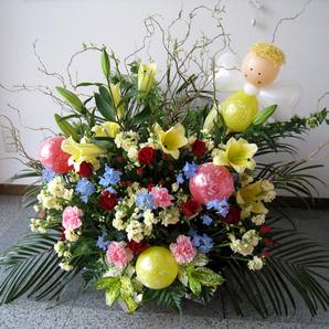 おまかせ バルーン フラワー【水戸市に配達】お誕生日 開店祝い