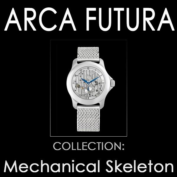 取寄品 正規品ARCA FUTURA自動巻き腕時計 アルカフトゥーラ 251SK-M Mechanical Skeleton メンズ腕時計 auktn 送料無料