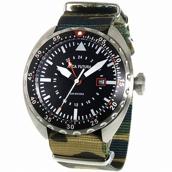 取寄品 正規品ARCA FUTURA腕時計 アルカフトゥーラ 3750BK2 Quartz メンズ腕時計 auktn 送料無料