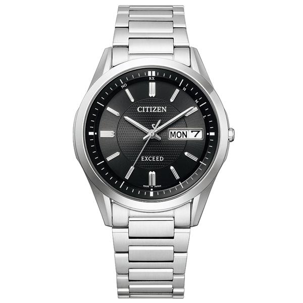 取寄品 正規品CITIZEN EXCEED腕時計 シチズン エクシード AT6030-51E エコドライブ電波時計 スーパーチタニウム メンズウォッチ 送料無料