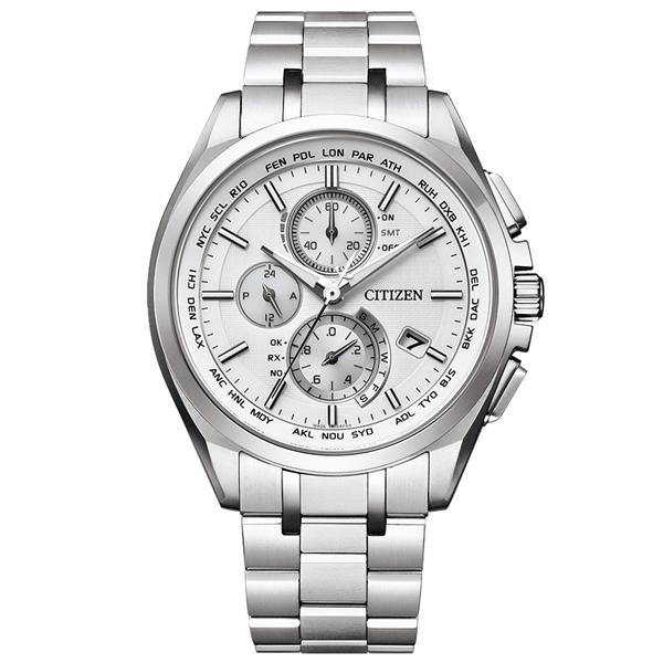取寄品 正規品CITIZEN ATTESA腕時計 シチズン アテッサ AT8040-57A エコドライブ ワールドタイム電波時計 ダイレクトフライト スーパーチタニウム クロノグラフ メンズウォッチ 送料無料