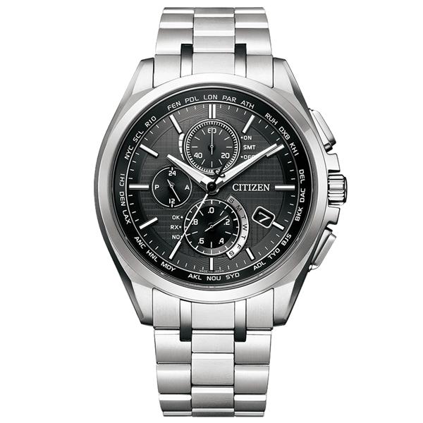 取寄品 正規品CITIZEN ATTESA腕時計 シチズン アテッサ AT8040-57E エコドライブ ワールドタイム電波時計 針表示式ダイレクトフライト スーパーチタニウム クロノグラフ メンズウォッチ 送料無料