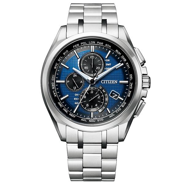 取寄品 正規品CITIZEN ATTESA腕時計 シチズン アテッサ AT8040-57L エコドライブ ワールドタイム電波時計 針表示式ダイレクトフライト スーパーチタニウム クロノグラフ ペアモデル メンズウォッチ 送料無料
