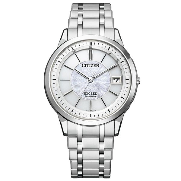 取寄品 正規品CITIZEN EXCEED腕時計 シチズン エクシード EBG74-5023 エコドライブ電波時計 スーパーチタニウム メンズウォッチ 送料無料