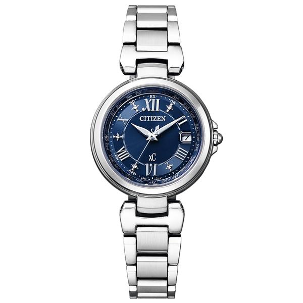 取寄品 正規品CITIZEN xC腕時計 シチズン クロスシー EC1030-50L エコドライブ ワールドタイム電波時計 ハッピーフライト ステンレス シルバー レディースウォッチ 送料無料