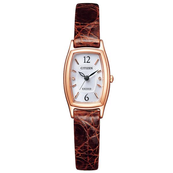 取寄品 正規品CITIZEN EXCEED腕時計 シチズン エクシード EX2002-03A エコドライブ ワニ革バンド レディースウォッチ 送料無料