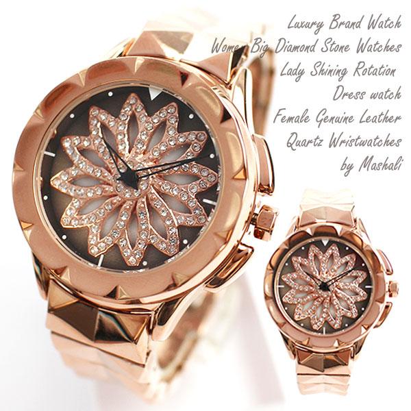 文字盤が回る ぐるぐる時計 スピナー シチズンMIYOTAムーブメント メタルベルト くるくる時計 ぐるぐる くるくる腕時計 RT006 レディース腕時計 送料無料