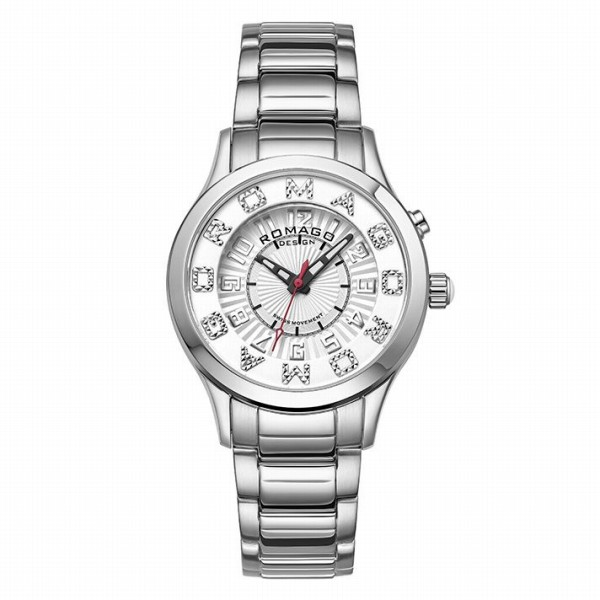 取寄品 正規品ROMAGO DESIGN腕時計ロマゴデザイン RM067-0162SS-SVWH アトラクション Attraction レディース腕時計 auktn 送料無料