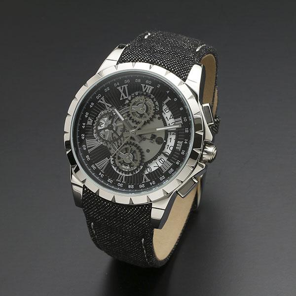 取寄品 正規品 Salvatore Marra 腕時計 サルバトーレマーラ SM13119D-SSBK/BK クロノグラフ 革ベルト 防水 メンズ腕時計 送料無料