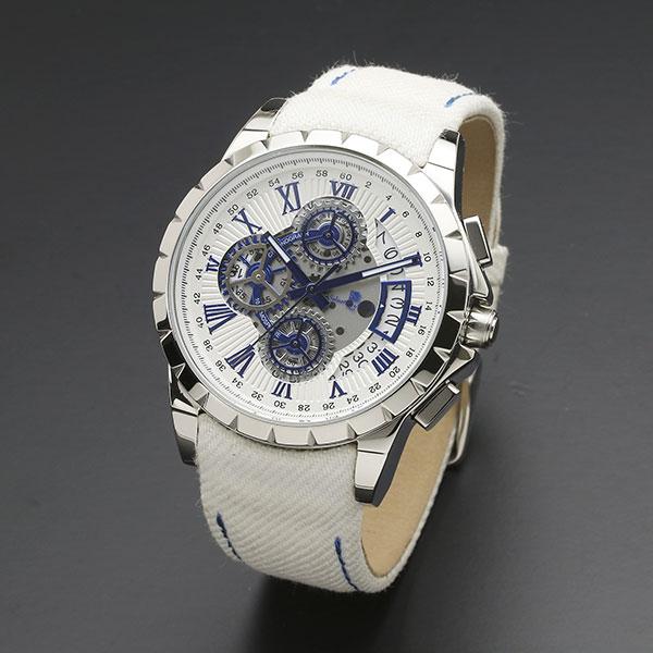 取寄品 正規品 Salvatore Marra 腕時計 サルバトーレマーラ SM13119D-SSWHBL/WH クロノグラフ 革ベルト 防水 メンズ腕時計 送料無料