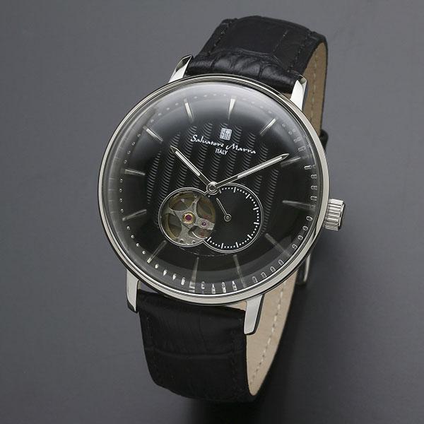 取寄品 正規品 Salvatore Marra 腕時計 サルバトーレマーラ SM17114-SSBK 自動巻き スモールセコンド 防水 メンズ腕時計 送料無料