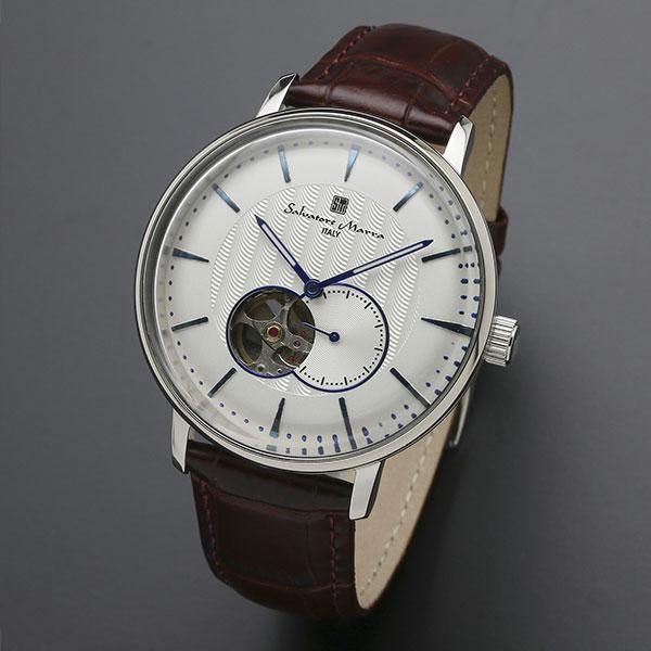 取寄品 正規品 Salvatore Marra 腕時計 サルバトーレマーラ SM17114-SSWH 自動巻き スモールセコンド 防水 メンズ腕時計 送料無料