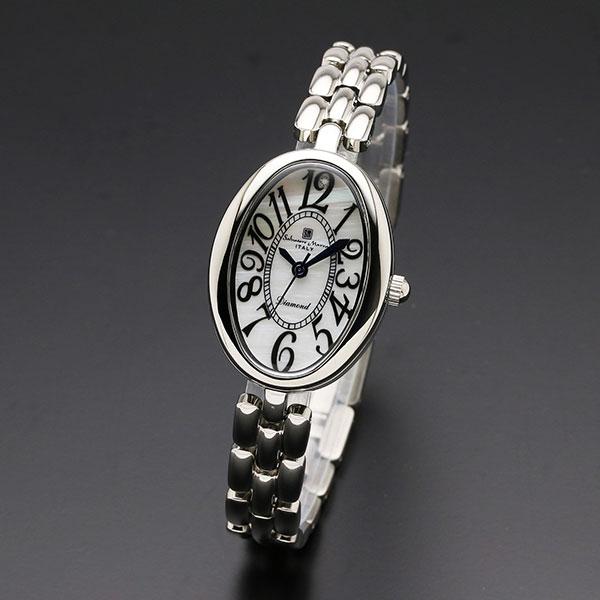 取寄品 正規品 Salvatore Marra 腕時計 サルバトーレマーラ SM17152-SSWH MOP時計 1Pダイヤ 防水 メンズ腕時計 送料無料