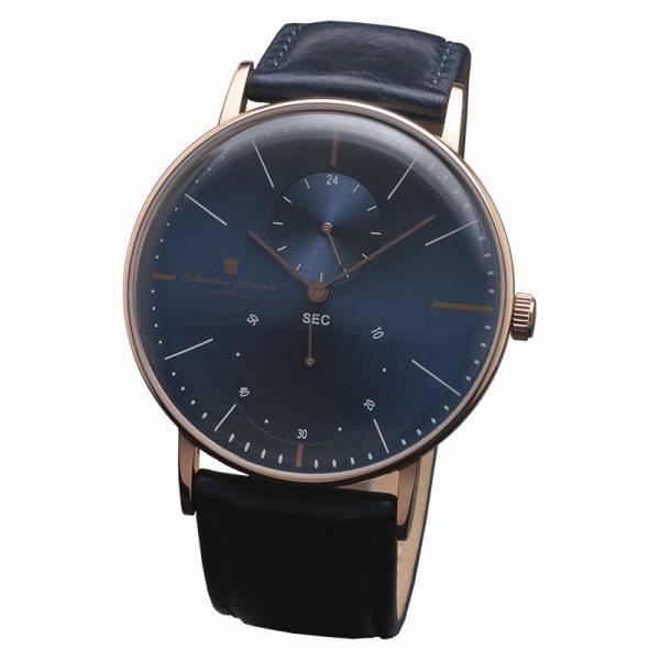 取寄品 正規品Salvatore Marra腕時計サルバトーレマーラ SM18103-PGBL スモールセコンド 革ベルト 防水 メンズ腕時計 auktn 送料無料