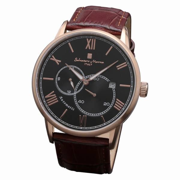 取寄品 正規品 Salvatore Marra 腕時計 サルバトーレマーラ SM18104-PGBK 自動巻き 革ベルト 防水 メンズ腕時計 送料無料