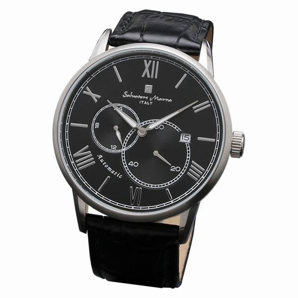 取寄品 正規品Salvatore Marra腕時計サルバトーレマーラ SM18104-SSBK 自動巻き 革ベルト 防水 メンズ腕時計 auktn 送料無料