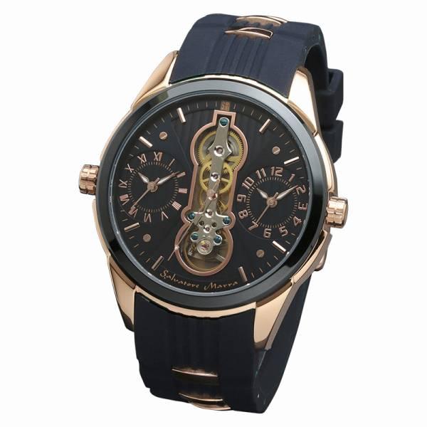 取寄品 正規品 Salvatore Marra 腕時計 サルバトーレマーラ SM18113-PGBL ツインテンプ 自動巻き 防水 メンズ腕時計 送料無料