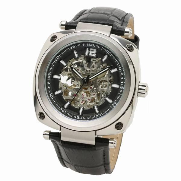 取寄品 正規品 Salvatore Marra 腕時計 サルバトーレマーラ SM18114-SSBK 自動巻き 革ベルト 防水 メンズ腕時計 送料無料