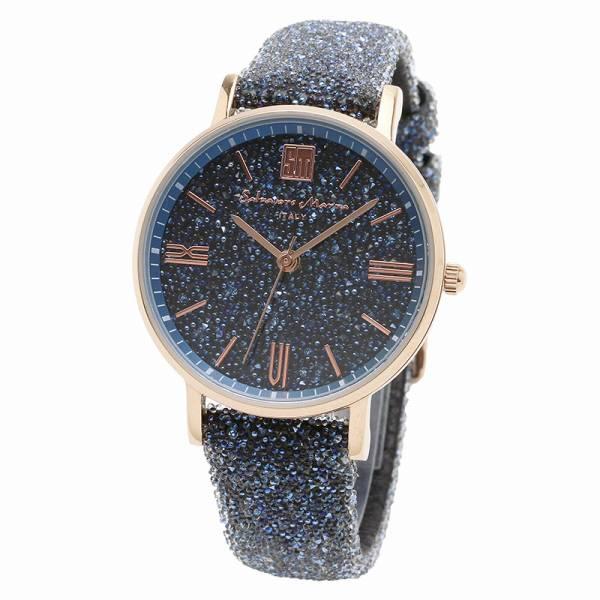 取寄品 正規品Salvatore Marra腕時計サルバトーレマーラ SM18115-PGBL スワロフスキー 時計 防水 メンズ腕時計 auktn 送料無料