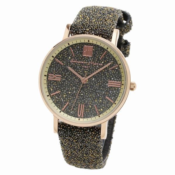 取寄品 正規品Salvatore Marra腕時計サルバトーレマーラ SM18115-PGBR スワロフスキー 時計 防水 メンズ腕時計 auktn 送料無料