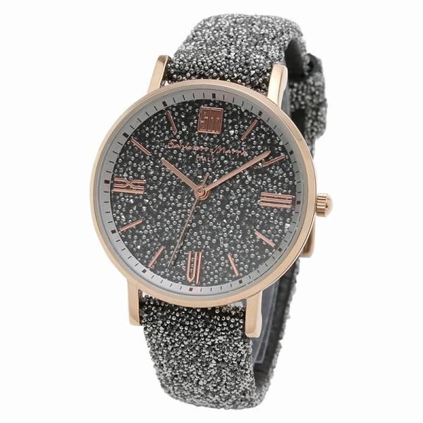 取寄品 正規品 Salvatore Marra 腕時計 サルバトーレマーラ SM18115-PGSV スワロフスキー 時計 防水 メンズ腕時計 送料無料