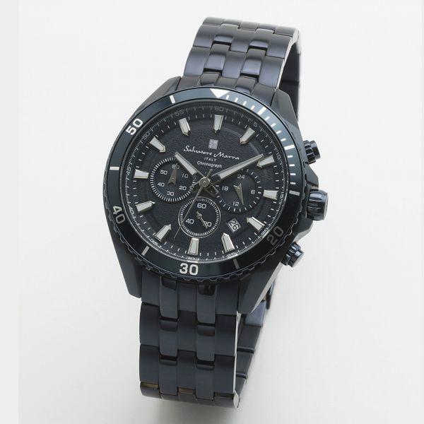 取寄品 正規品 Salvatore Marra 腕時計 サルバトーレマーラ SM19113-BLBL クロノグラフ メタルベルト 防水 メンズ腕時計 送料無料