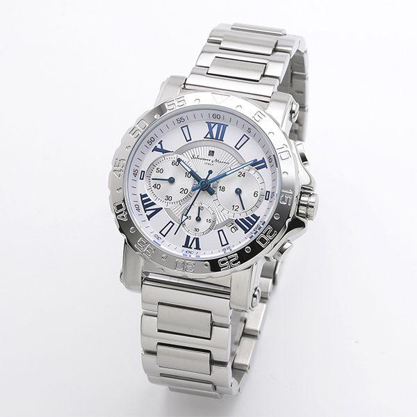 送料無料 新作入荷!! 取寄品 正規品 Salvatore Marra 腕時計 購買 メンズ腕時計 サルバトーレマーラ メタルベルト 防水 クロノグラフ SM20101-SSWHBL
