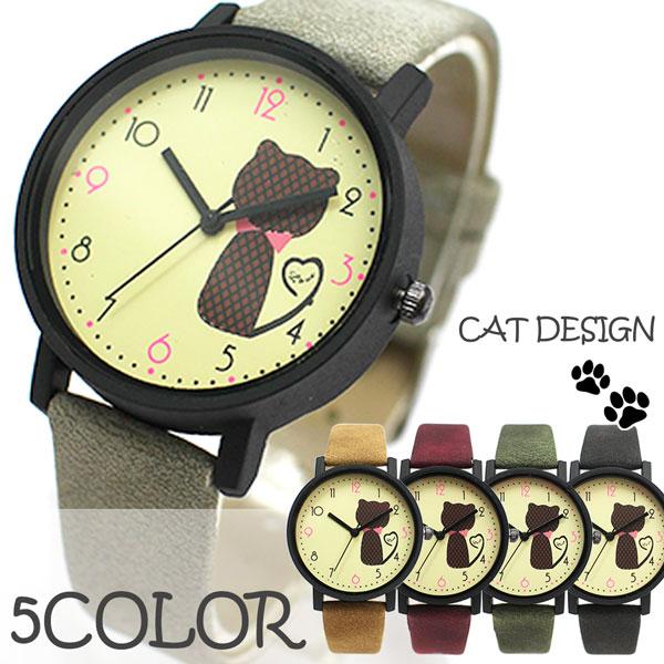 保証付き マート レディース腕時計lady'sうでどけいブランドランキング アウトレット ポスト投函で送料無料 リボンを付けた黒猫の後ろ姿がかわいい 思わず手元を見ちゃうデザイン レディース腕時計 ねこ 送料無料 SPST033 黒猫