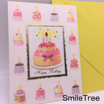 9 Different Greeting Card Floral Flower Letter Fashion Cute Stationery Giveaway Celebration Birthday Wedding Multi