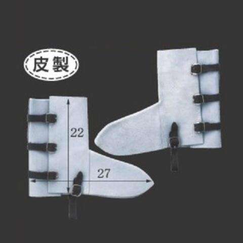 皮製3本バンド足カバー(10足) 牛床革脚絆 溶接 鉄工所 長さ22cm×横幅27cm 富士グローブ