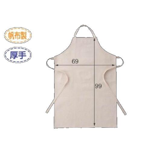 帆布胸当前掛 10枚 布製エプロン 厚手タイプ 高さ99cm×横幅69cm 大きめ L 特大 富士グローブ 日本 CAN-002 低価格化 サイズ