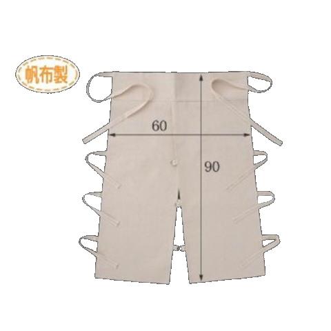 帆布ローハイド腰前掛(10枚) 布製エプロン 高さ90cm×横幅60cm CAN 008 富士グローブ