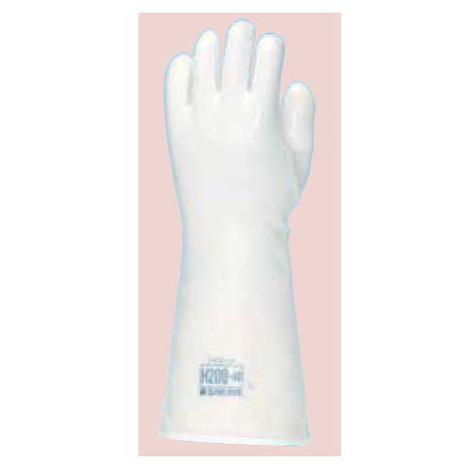 ダイローブ H 200 40 (1双) 耐熱用手袋 シリコーン製 裏地付 二重構造 ロングタイプ(長さ40cm) ダイヤゴム