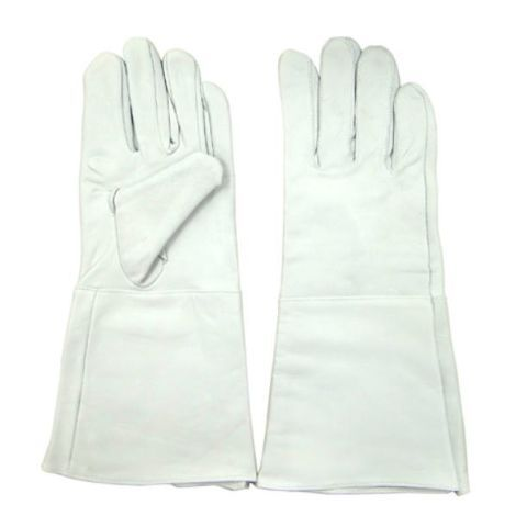 羊革袖長手袋 シープクレスト袖長手袋(10双) シープクレストロング32cm 白色 富士手袋工業 天牛 フジテ