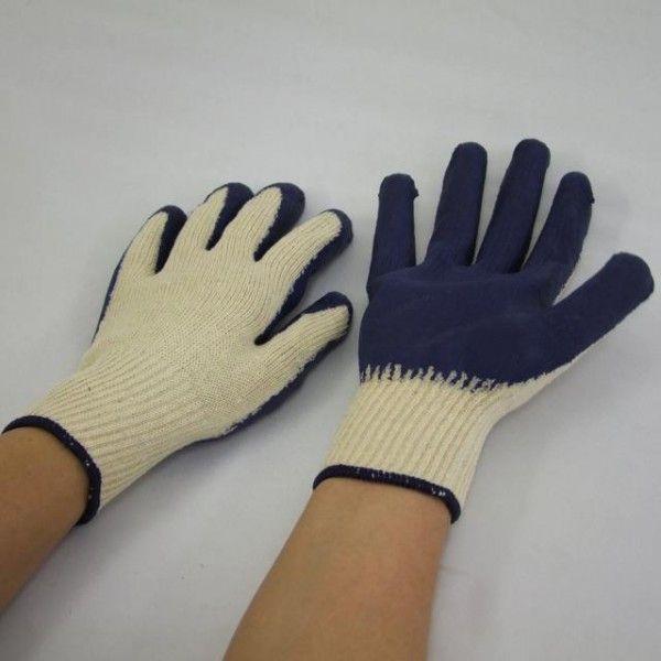 ゴム引き手袋5双入48袋(240双) 10ゲージ ラバー軍手 ゴム背抜き手袋 フリーサイズ 激安